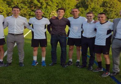 De jeunes unafistes rencontrent le quatuor d'arbitres de la Finale de la Coupe de France